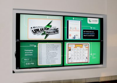 Arreya School Digital Signage Video Wall in Chicago