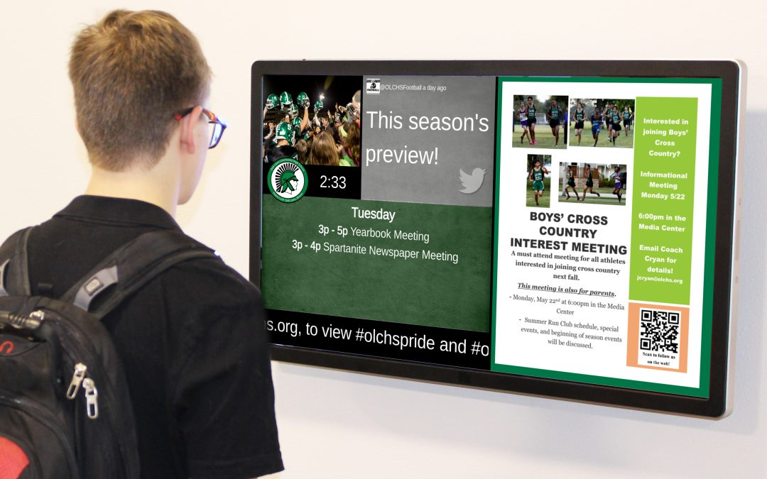 OLCHS Uses Digital Signage for School Communication