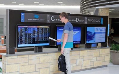 6 Screen Airport Digital Signage Kiosk for Passengers and Advertisers