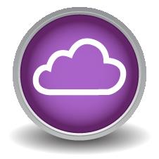 Digital Signage Cloud Icon
