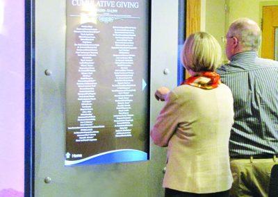 Digital Donor Wall Using Arreya Digital Signage Platform - St. Lukes Hospital Cedar Rapids, IA