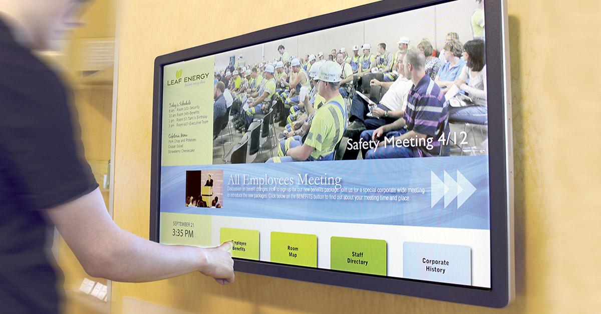 Digital Signage for Employee Communications - Arreya Digital
