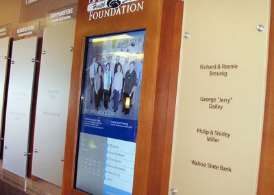 Trinity Hospital uses Digital Donor Signs Created in Arreya Digital Signage Cloud-Based Software