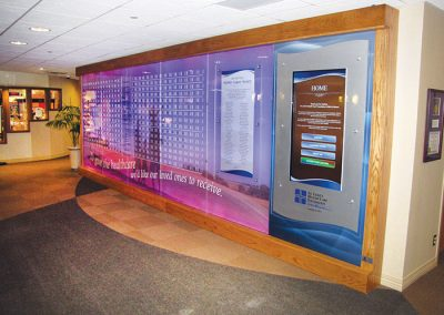 St. Lukes in Cedar Rapids, IA uses Digital Donor Signage Created in Arreya Digital Signage  Cloud-Based Software