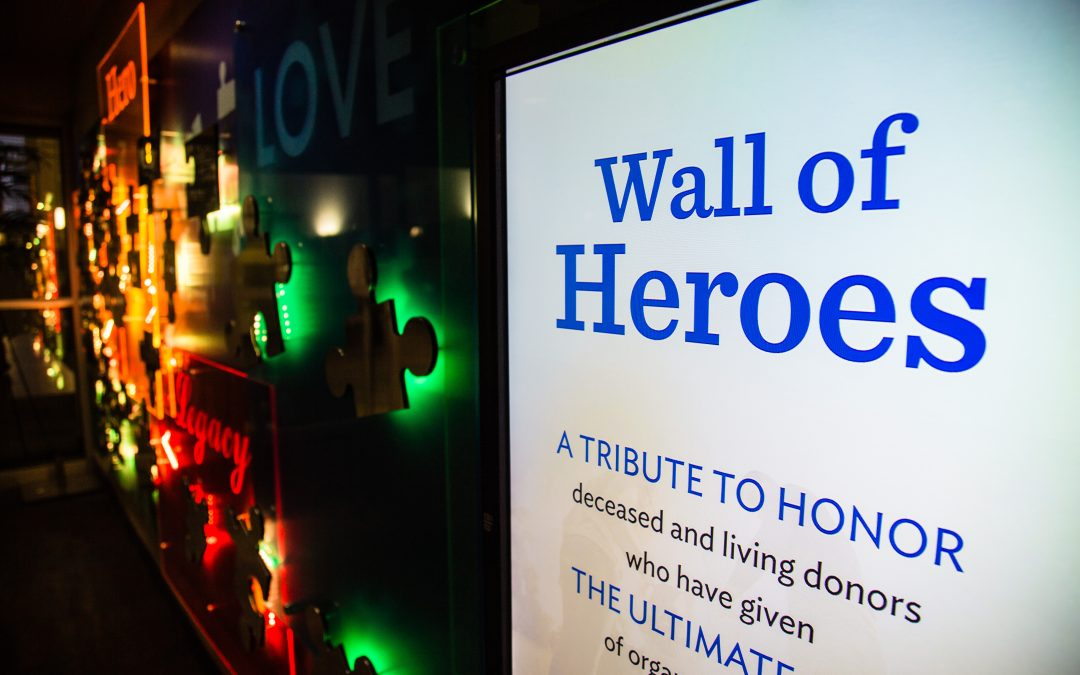 Methodist Hospital Honors Organ Tribute Through Digital Donor Wall