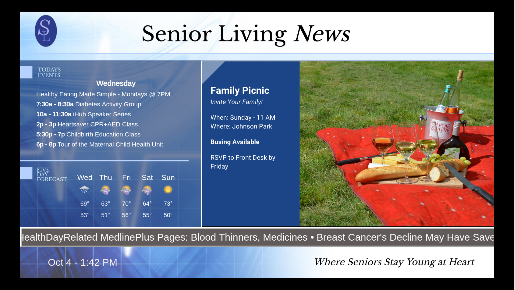Digital Signage for Senior Living Centers
