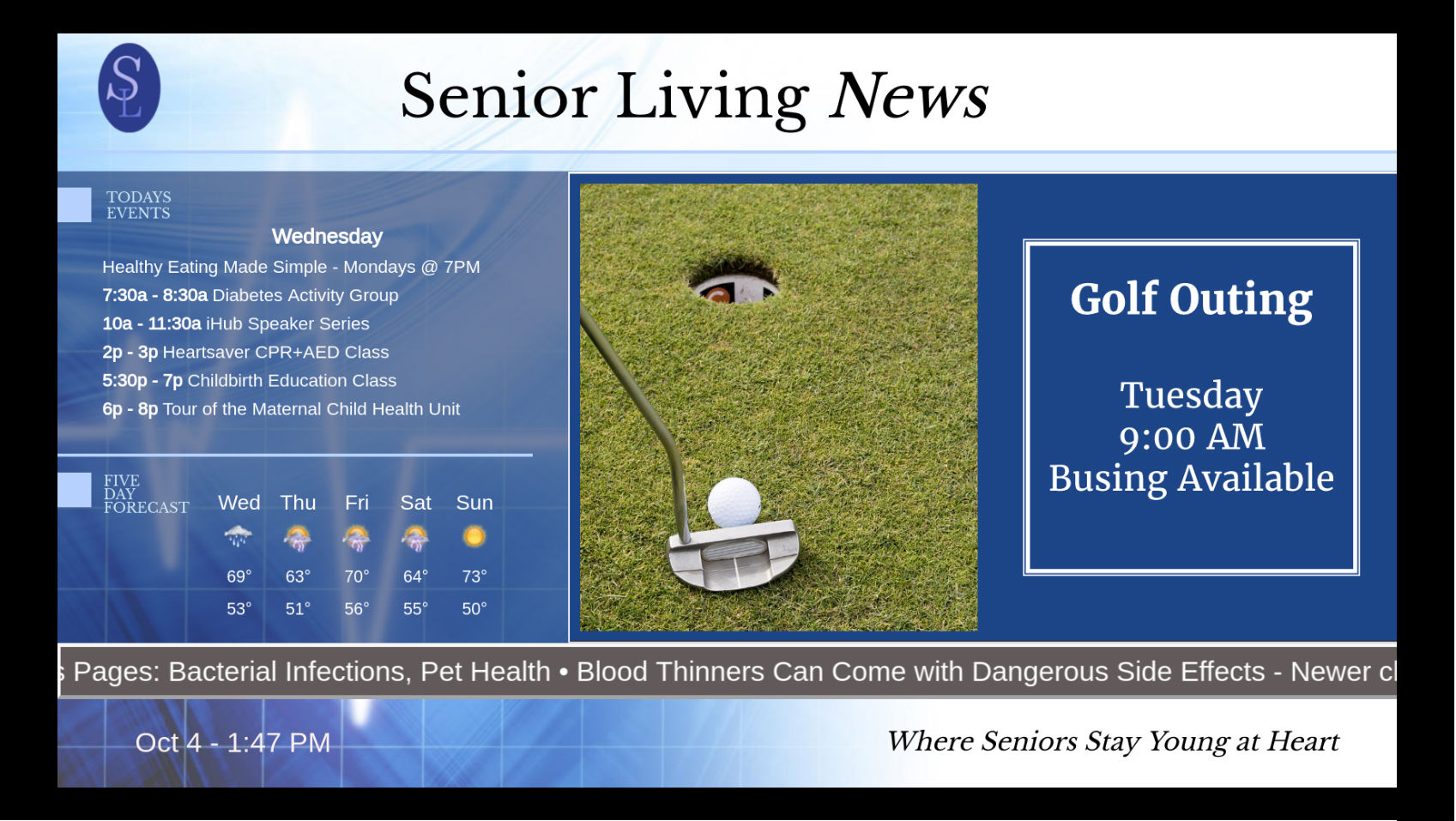 Digital Signage for Assisted Living Centers