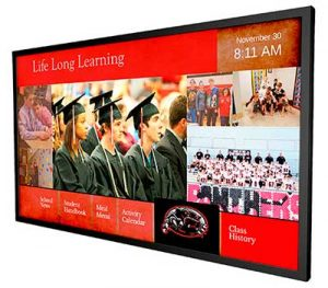 Chrome Digital Signage Touchscreen Display For Schools
