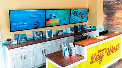 Digital Signage Point Of Sale Video Wall Display Showing Attractions and Advertising