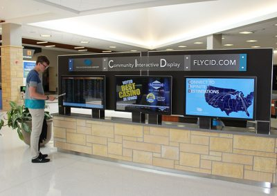 Government Digital Signage Airport Kiosk Display