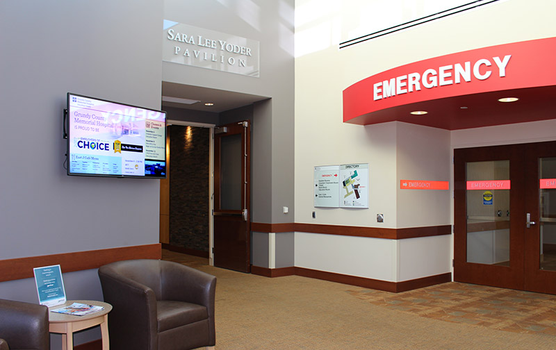 Hospital digital signage information