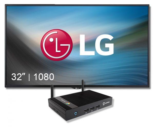 "Digital Sign LG 32"" + Chromebox Display"