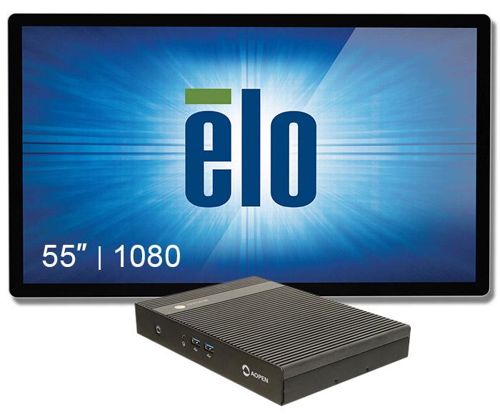 "Digital Signage 55"" Elo+chromebox Commercial 2"