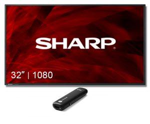 "Digital Sign Sharp 32"" + Chromebit Display"