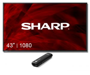 "Digital Sign Sharp Display 43"" Screen with chromebit"