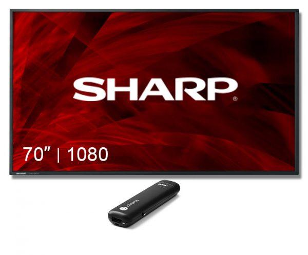"Digital Sign Sharp Display 70"" Screen"