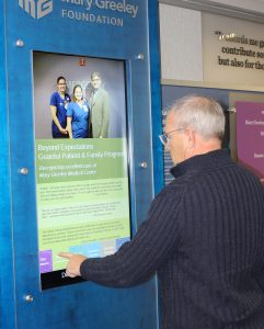 digital-signage-touchscreen-interactive-kiosk-content-design-donor-wall-portrait