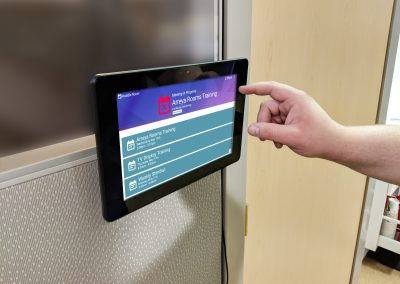 Room Signs Touch Screen Interaction