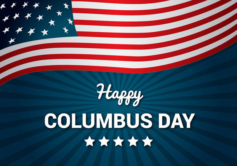 Happy Columbus Day for October Digital Signage