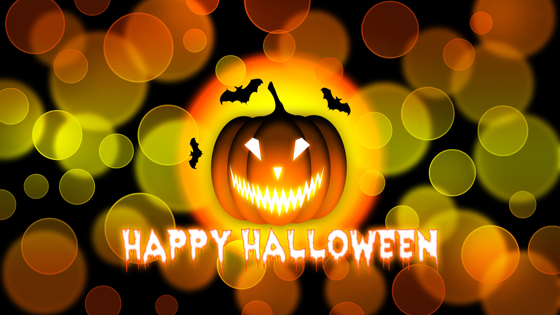 Happy Halloween Pumpkin for October Digital Signage