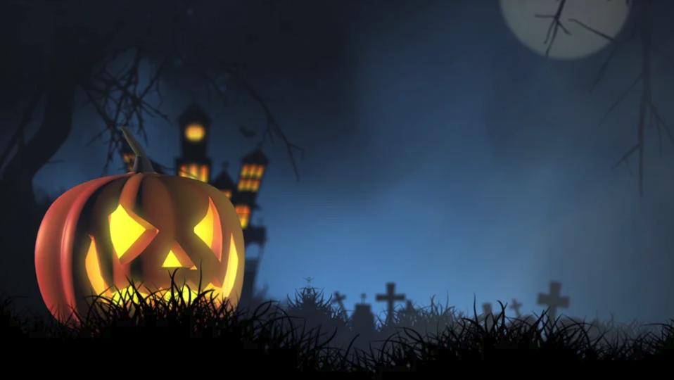 Halloween Jack-o-Lantern Pumpkin for October Digital Signage
