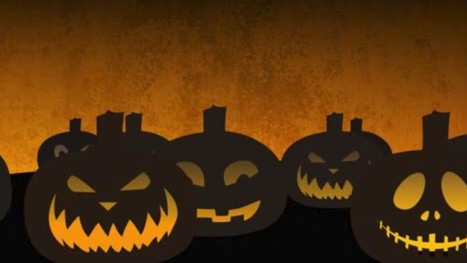 Pumpkins Looping Background 4K for October Digital Signage