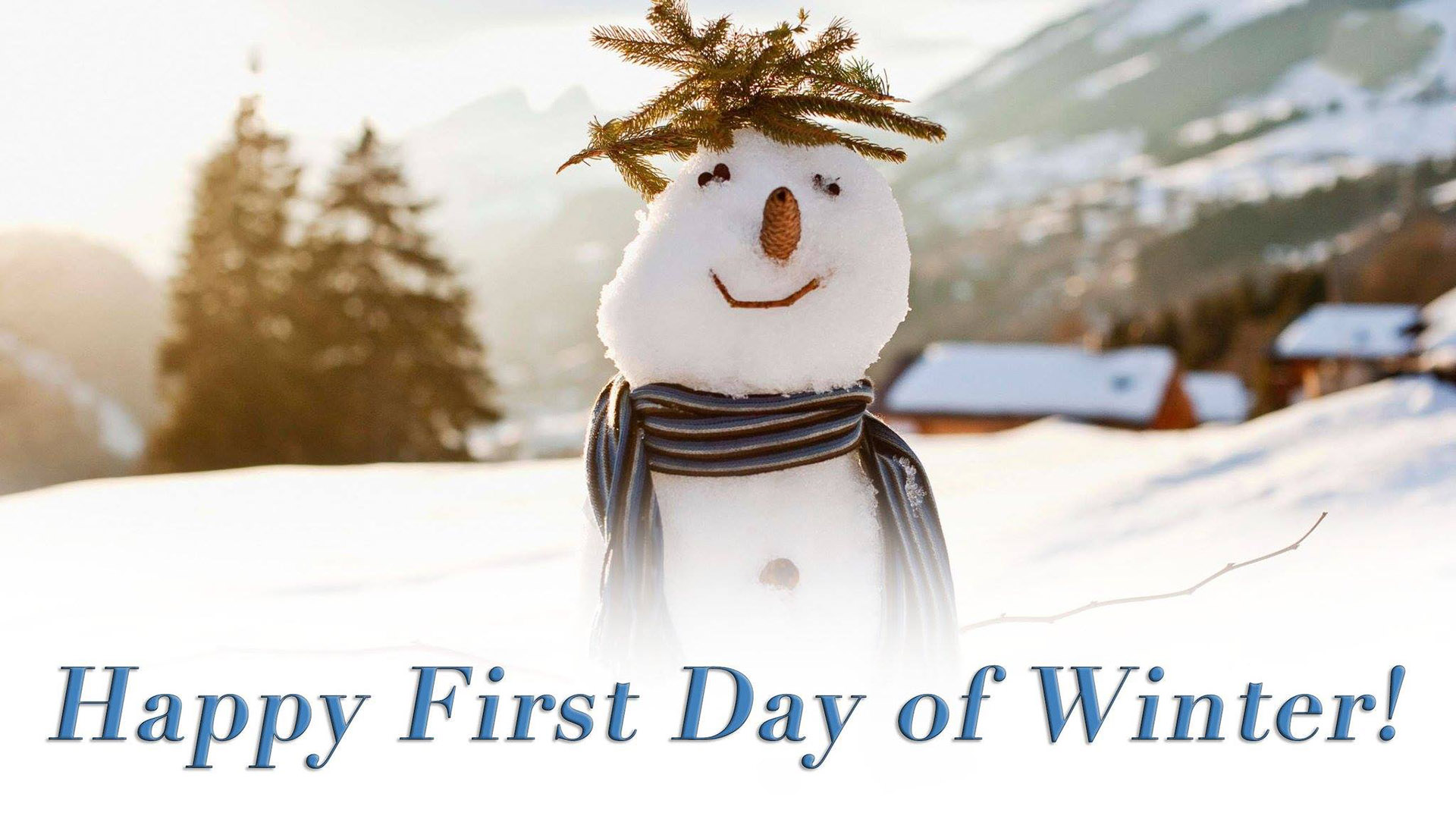 Happy First Day Of Winter Digital Signage Content