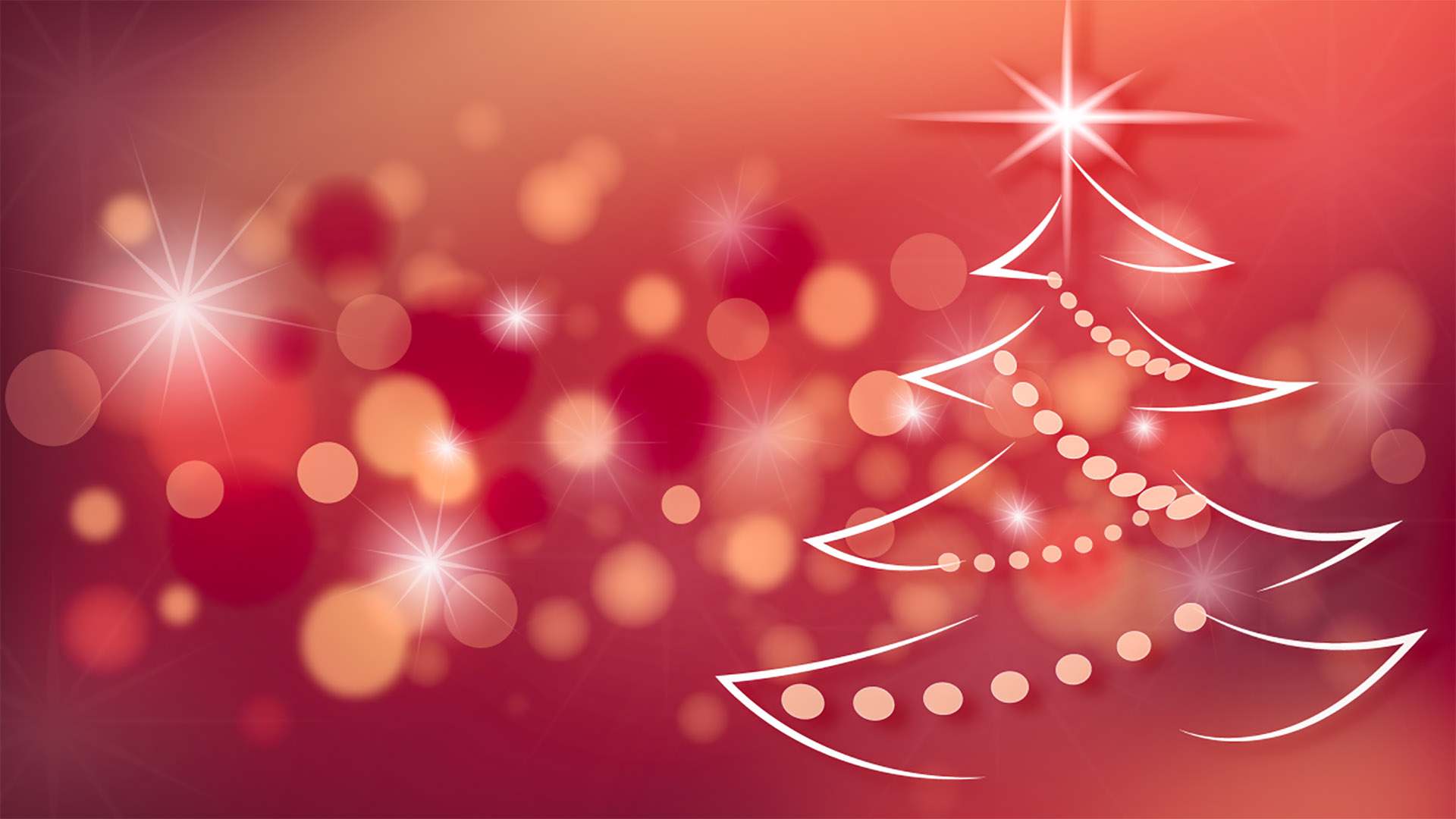 Holiday Red Tree Digital Signage Content