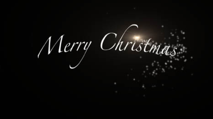 Merry Christmas Sparkle Digital Signage Video
