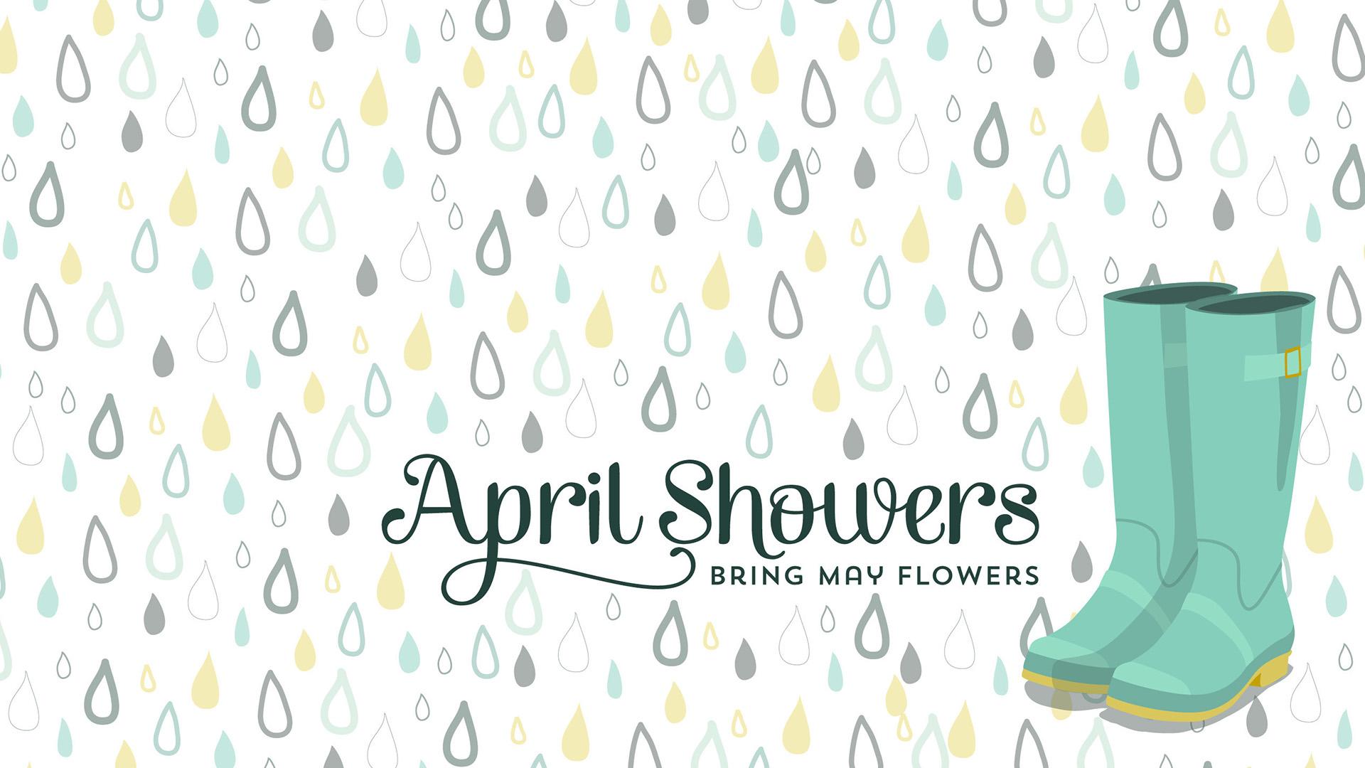 April Showers Image For April 2020 Digital Signage