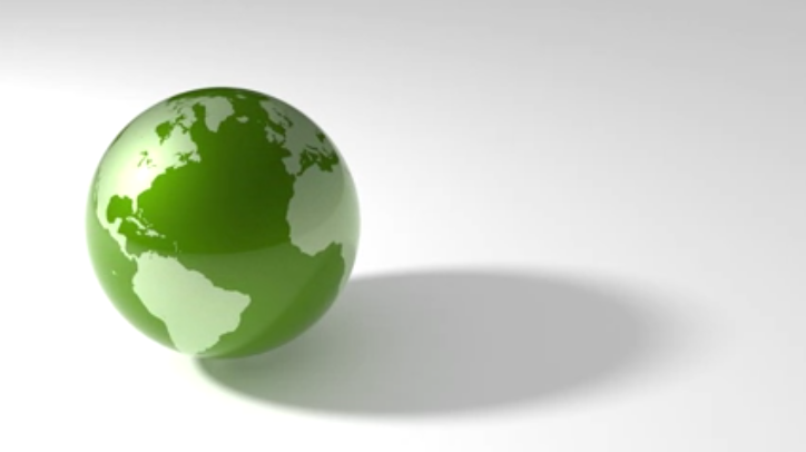 Green Spinning Earth Video For April 2020 Digital Signage
