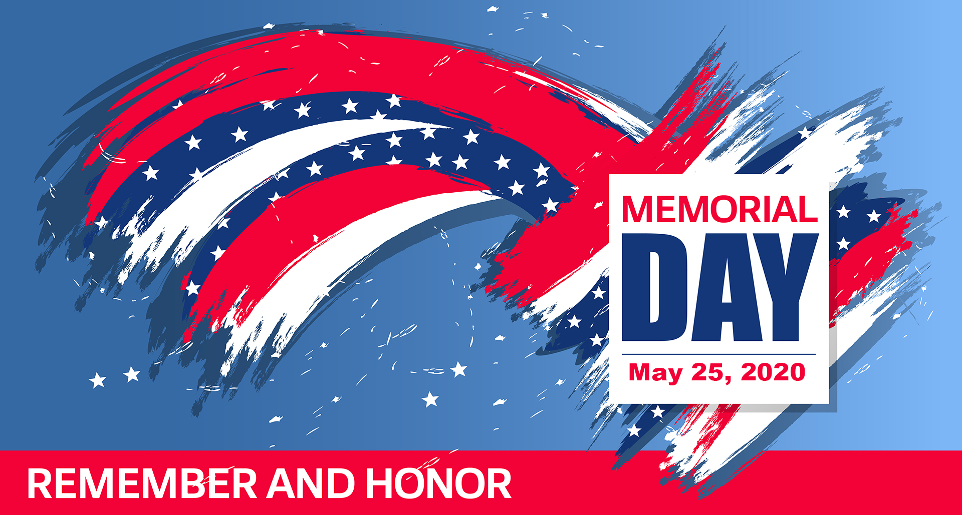 Memorial Day Graphic May 2020 Digital Signage