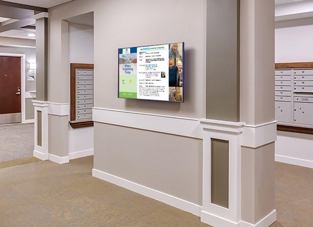 assisted living digital signage