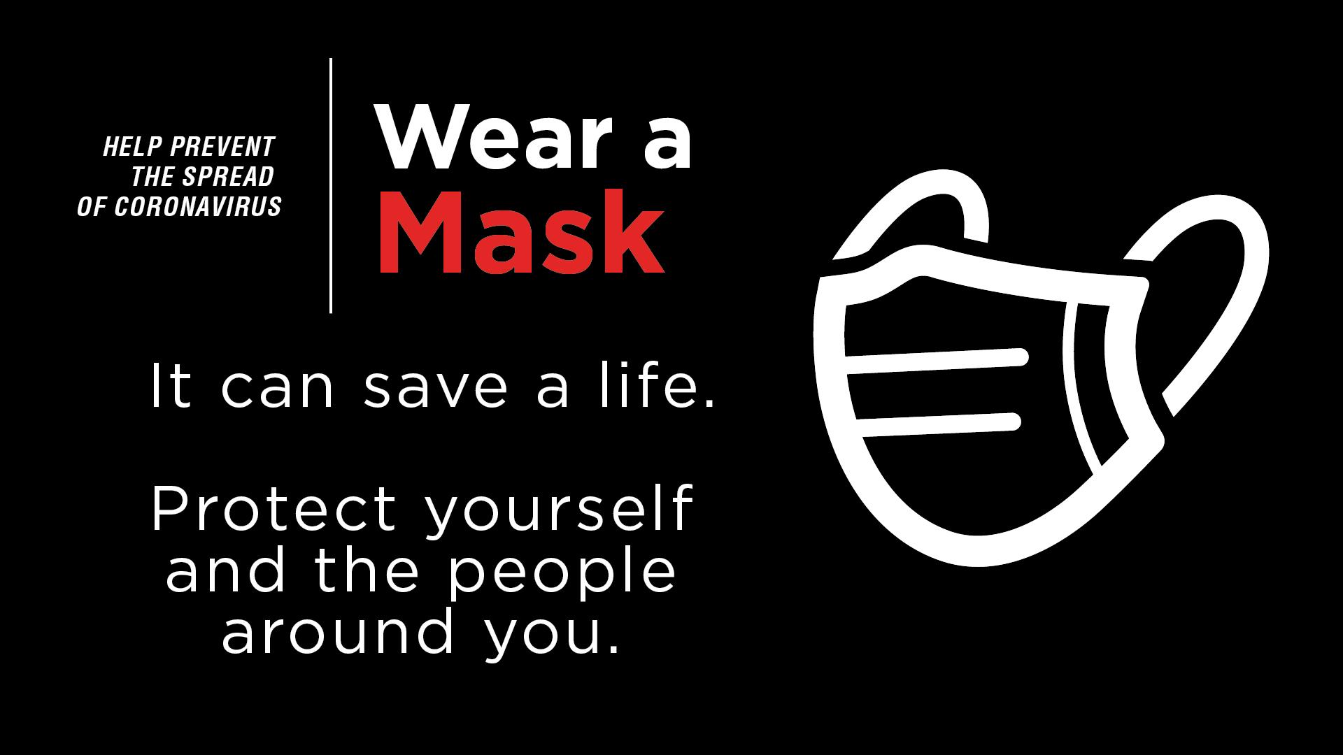 Wear a Mask Digital Signage Image