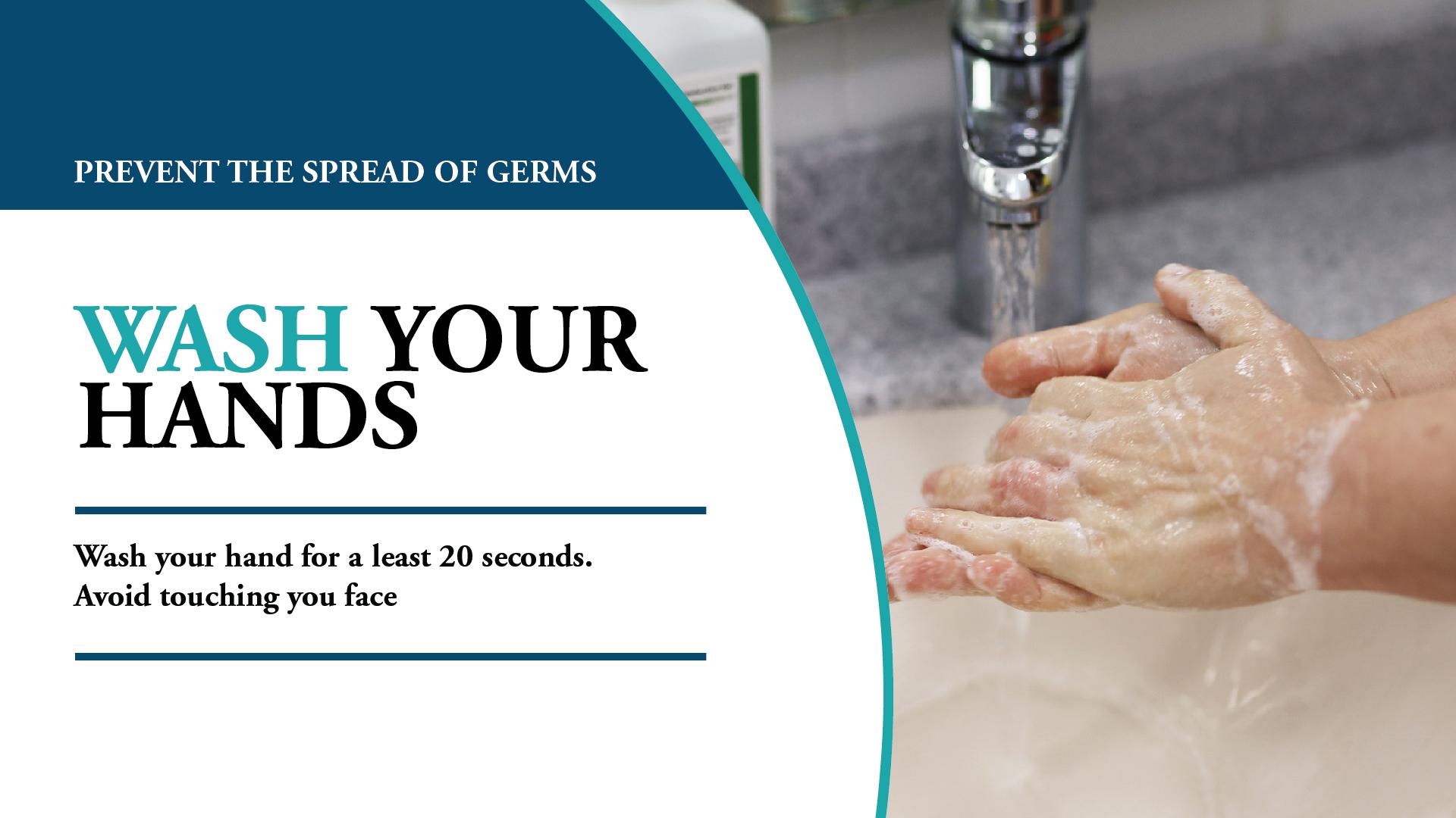 Wash Your Hands Digital Signage Image