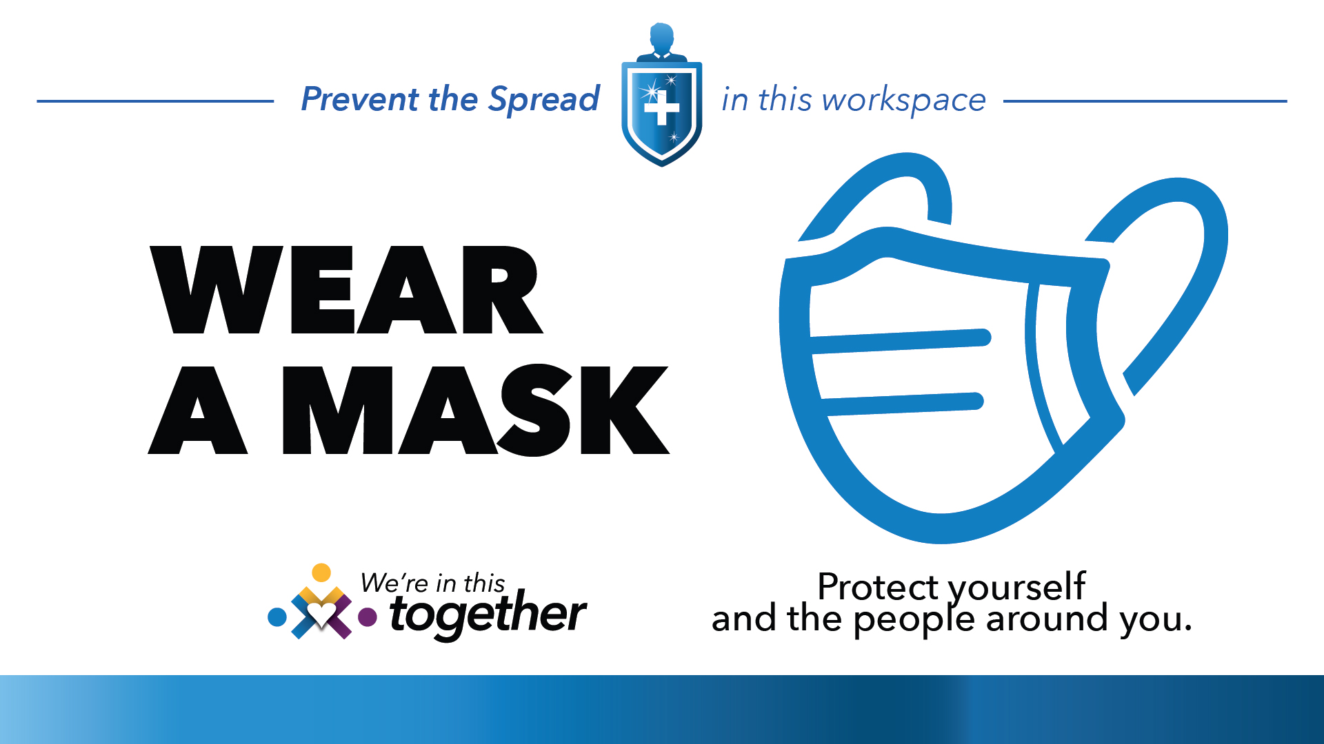 In this Workspace - Wear a Mask Digital Signage Image