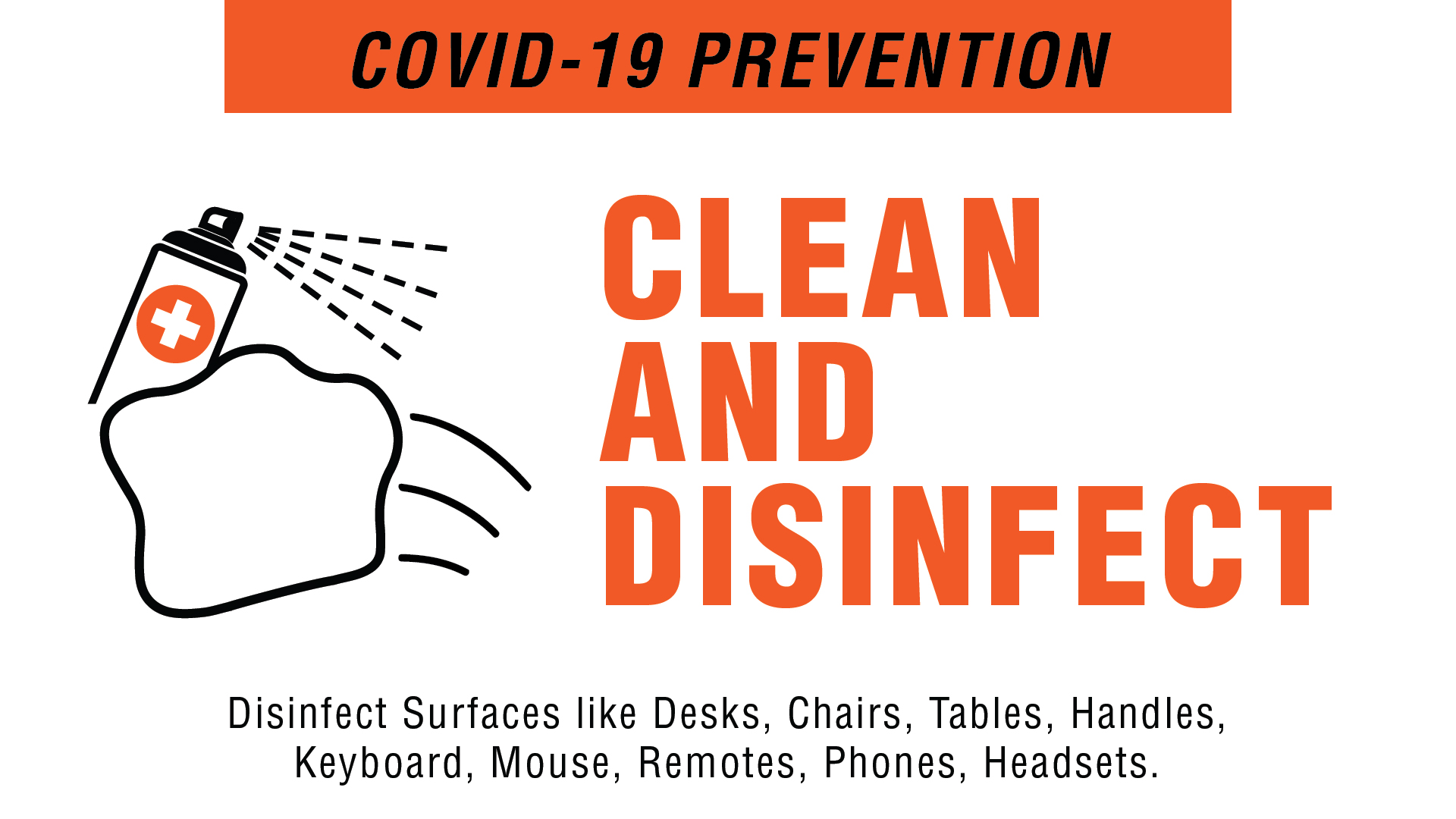 Covid-19 Prevention - Clean and Disinfect Digital Signage Image