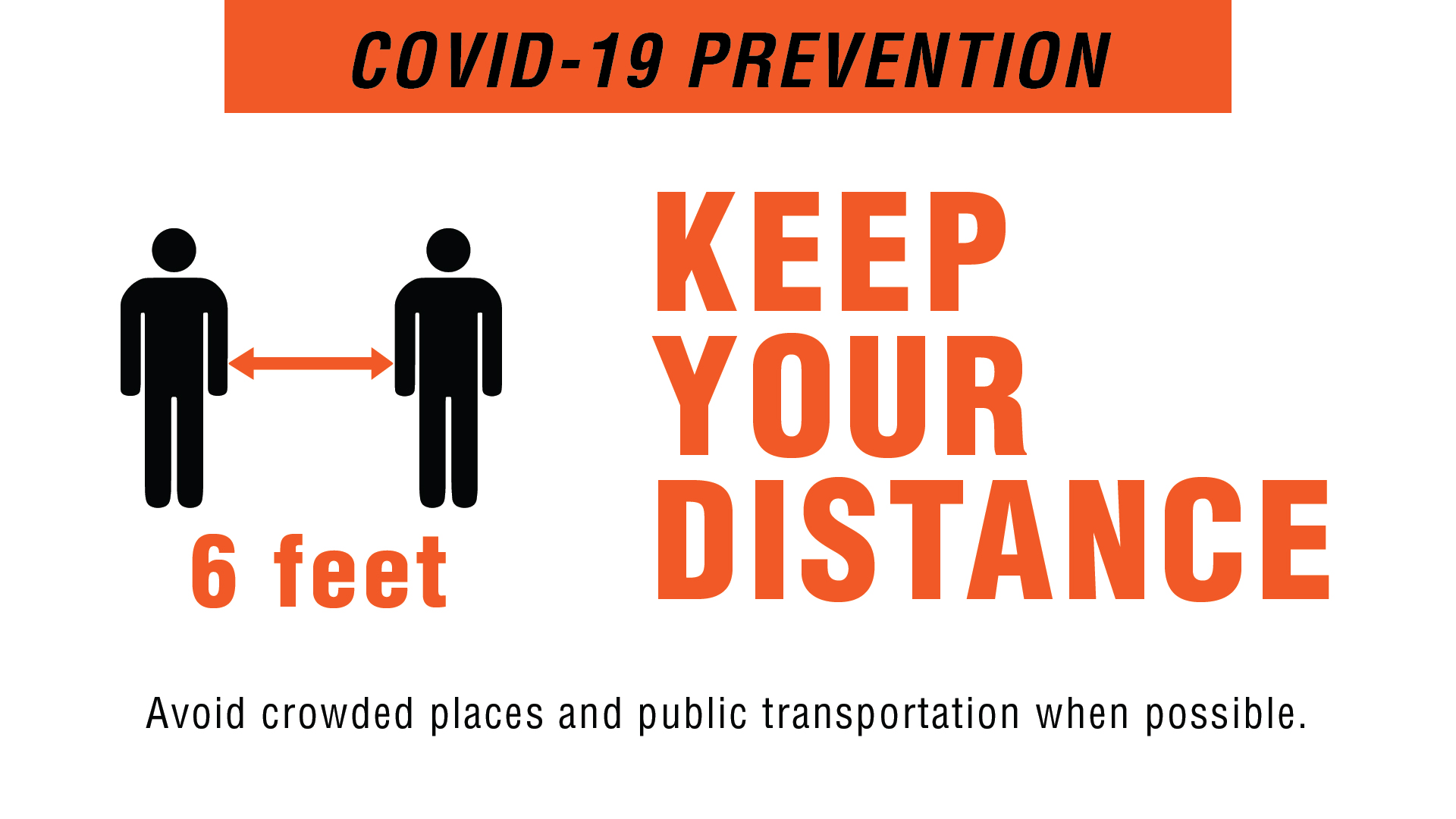 Covid-19 Prevention - Keep Your Distance Digital Signage Image