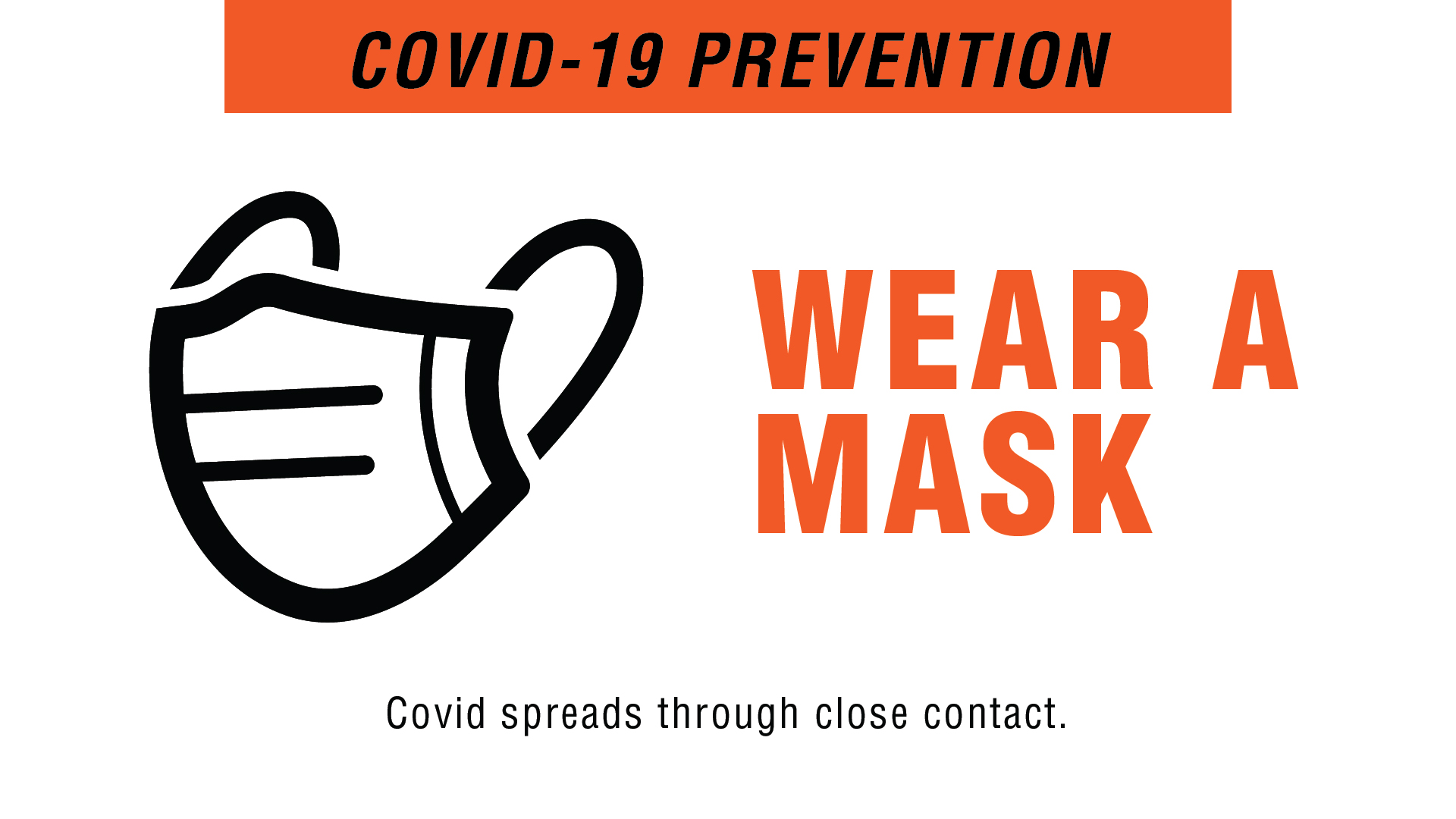 Covid-19 Prevention - Wear A Mask Digital Signage Image