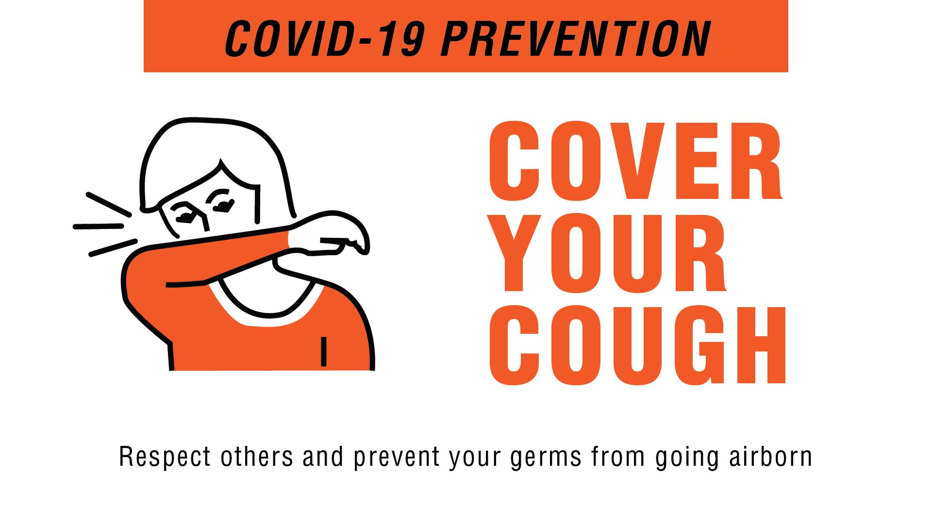 Covid-19 Prevention - Cover Your Cough Digital Signage Image