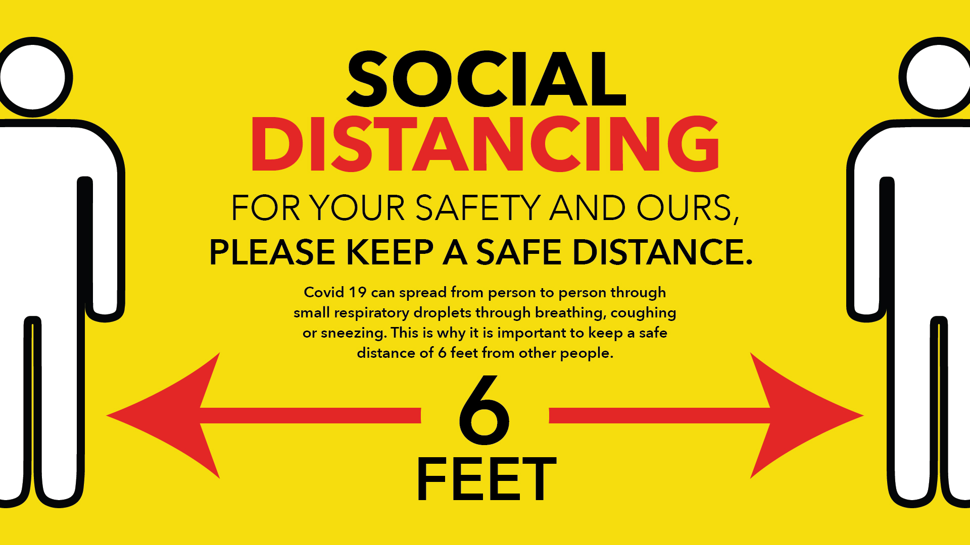 For Your Safety And Ours - Social Distancing Digital Signage Image