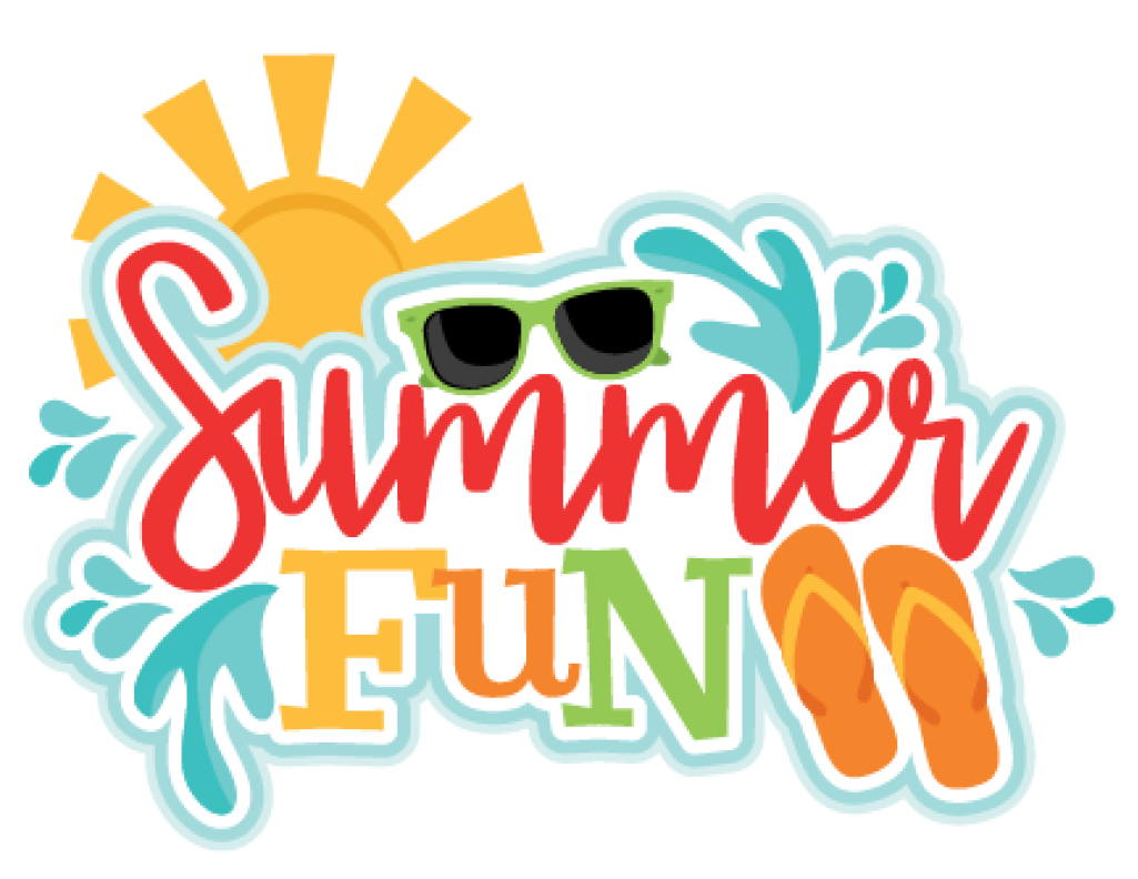 Summer Fun Logo Graphic with Sun and Sandals