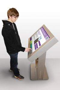 touchscreen kiosk donor recognition covid-19