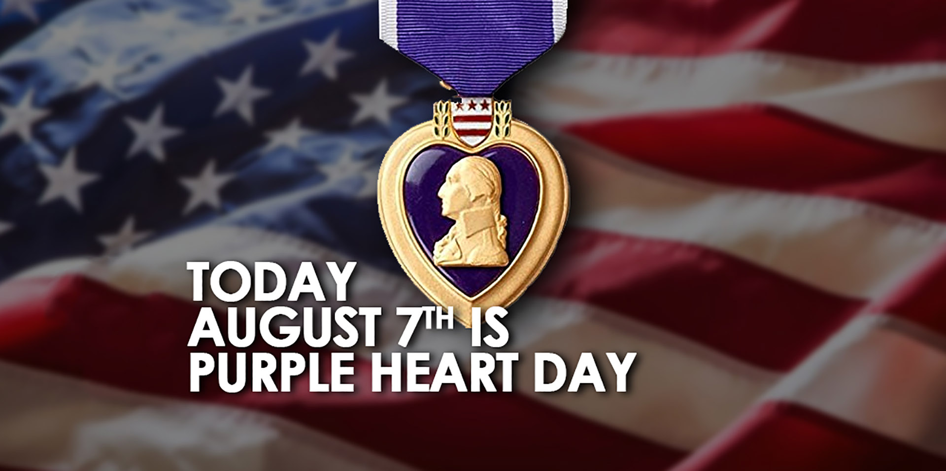 Purple Heart Day Aug 7 Digital Graphic for Digital Signage Communications