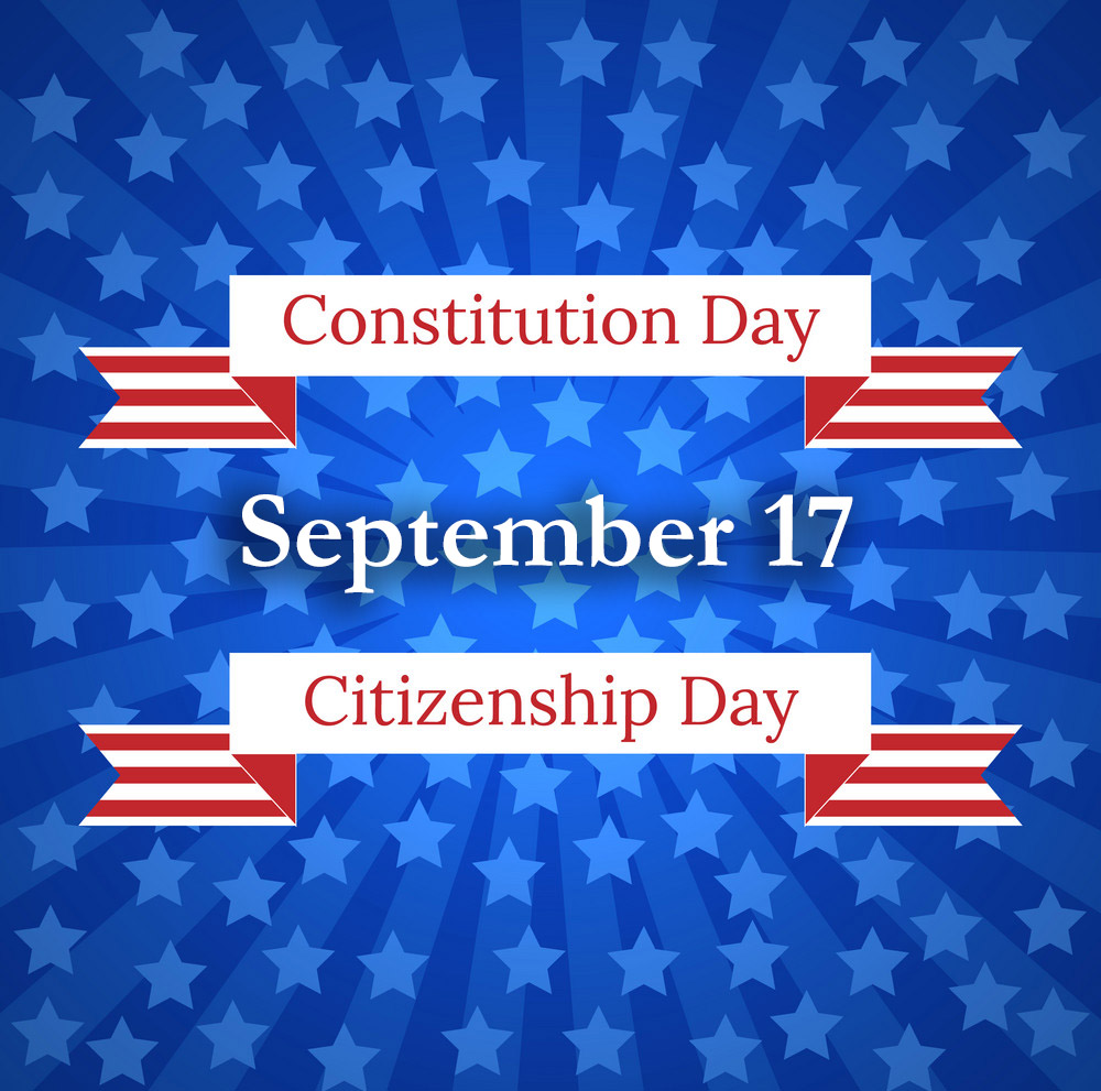 Citizenship Day Graphic Message for Digital Signage Communications
