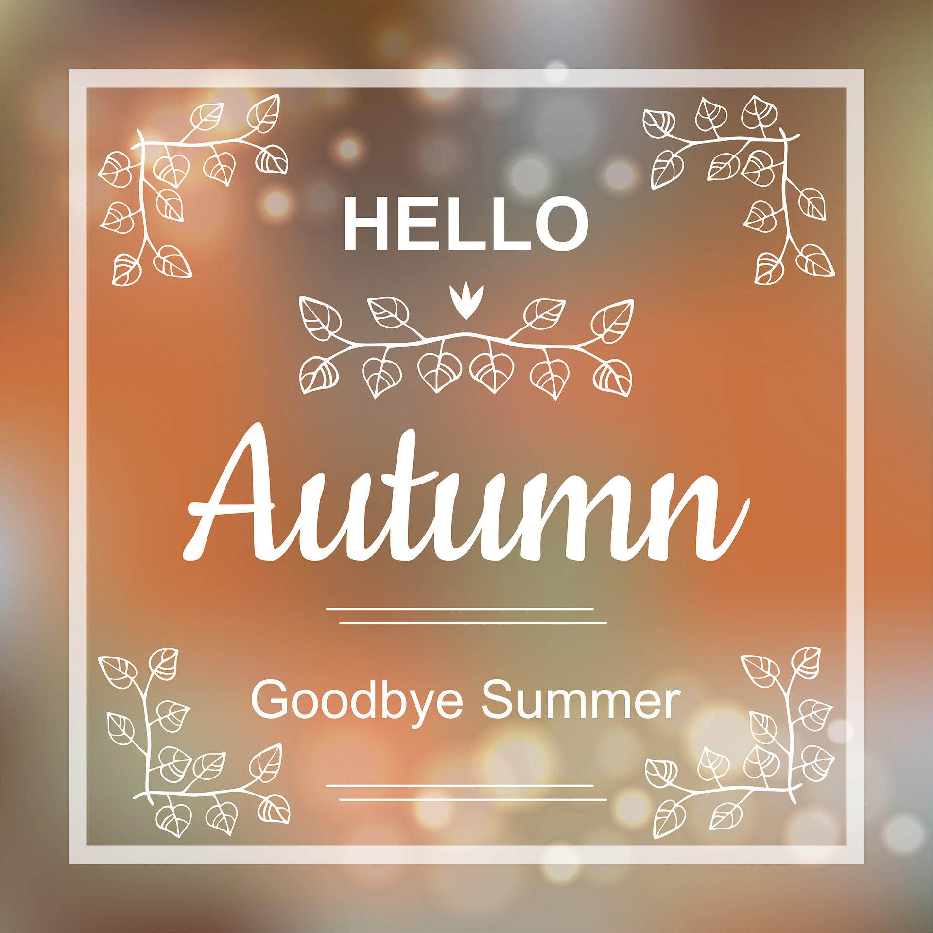 First Day Of Fall Graphic Message for Digital Signage Communications