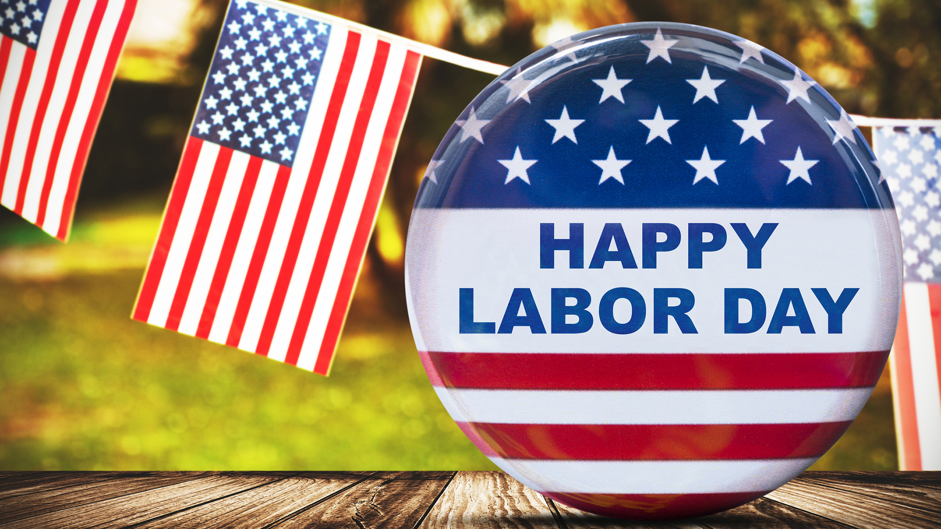 Labor Day Graphic Message for Digital Signage Communications