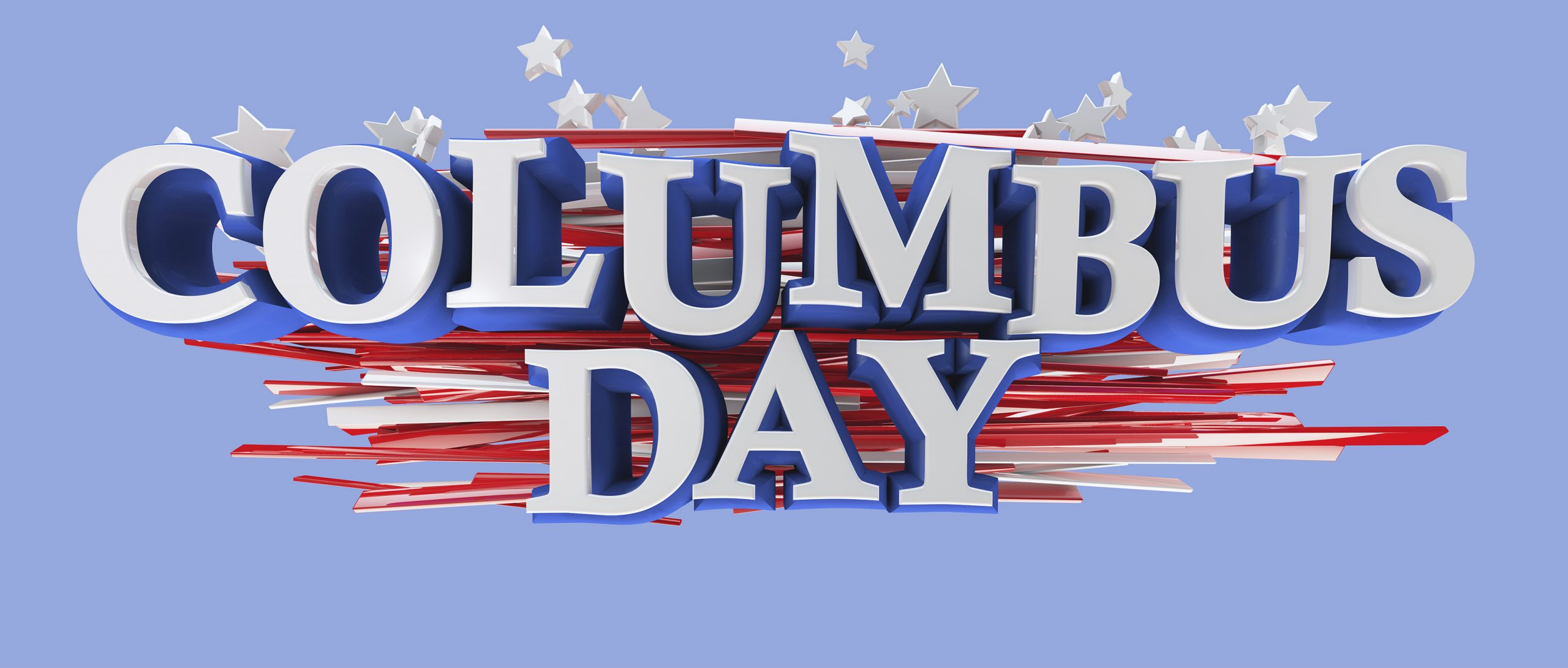 Columbus Day Graphic Message for Digital Signage Communications