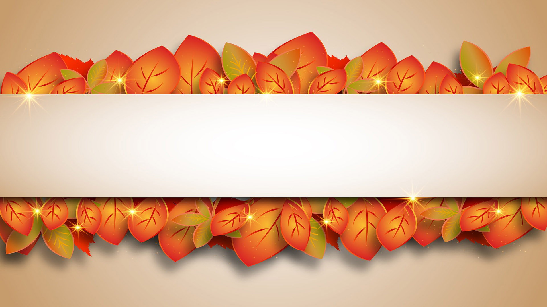 Fall Graphic Message for Digital Signage Communications