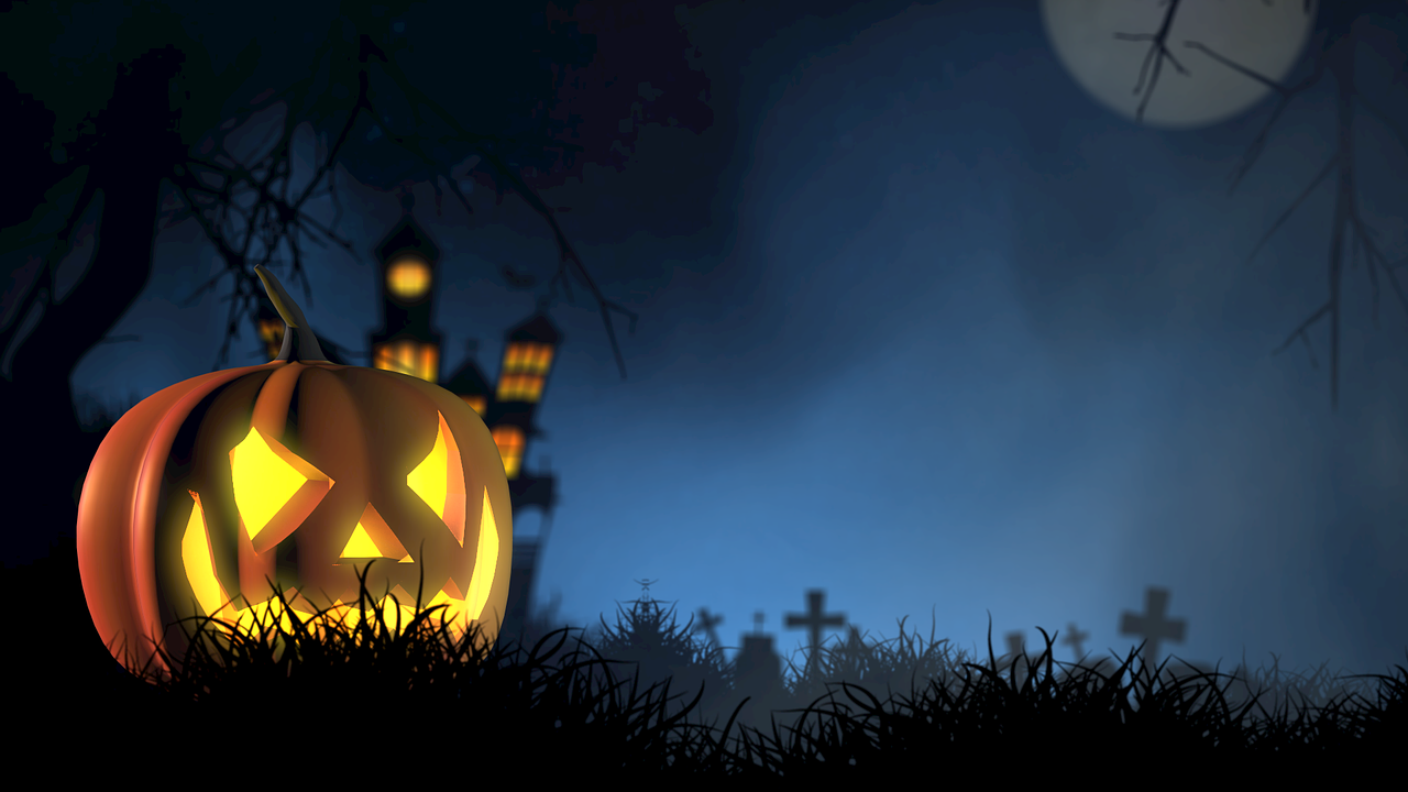 Halloween Graphic Message for Digital Signage Communications